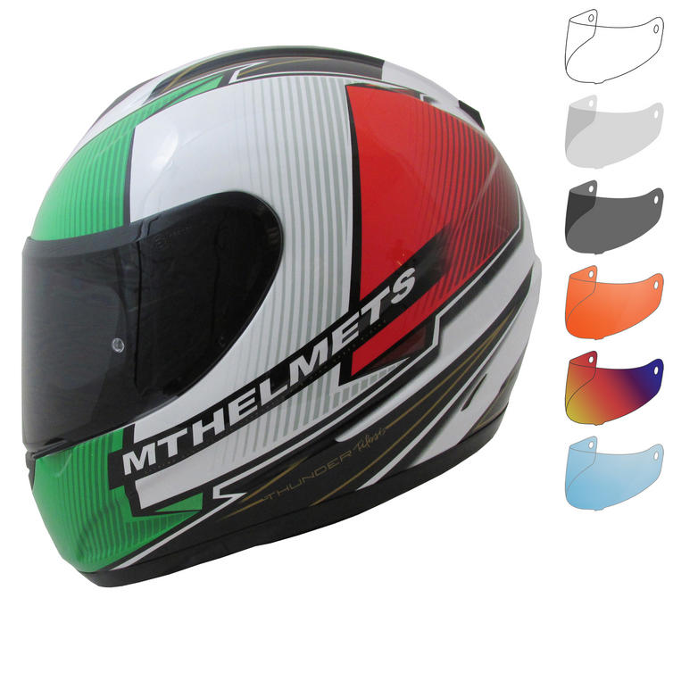 MT Thunder Tifosi Motorcycle Helmet & Visor
