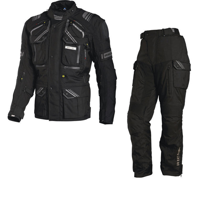 Richa Touareg Motorcycle Jacket & Trousers Black Kit