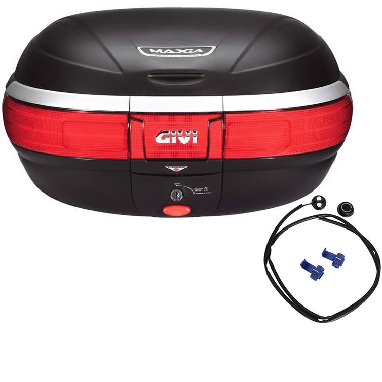 Givi E52 Maxia Monokey Topcase 52L with Integrated Brake Light Kit (E52NF)