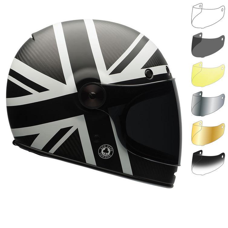 Bell Bullitt Carbon Ace Cafe Black Jack Motorcycle Helmet & Visor