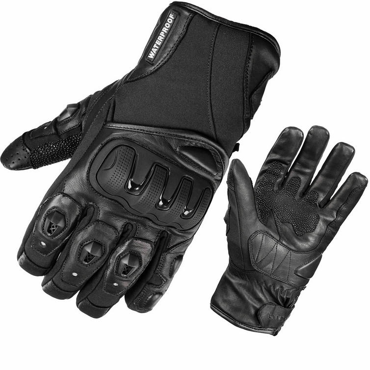 Black Spike WP Waterproof Motorcycle Gloves