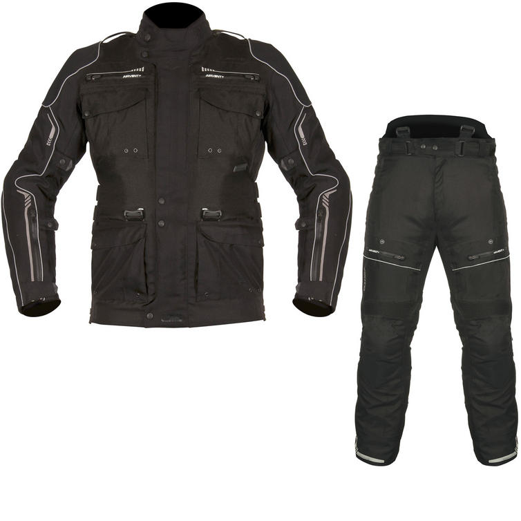 Akito Latitude Motorcycle Jacket & Trousers Black Kit