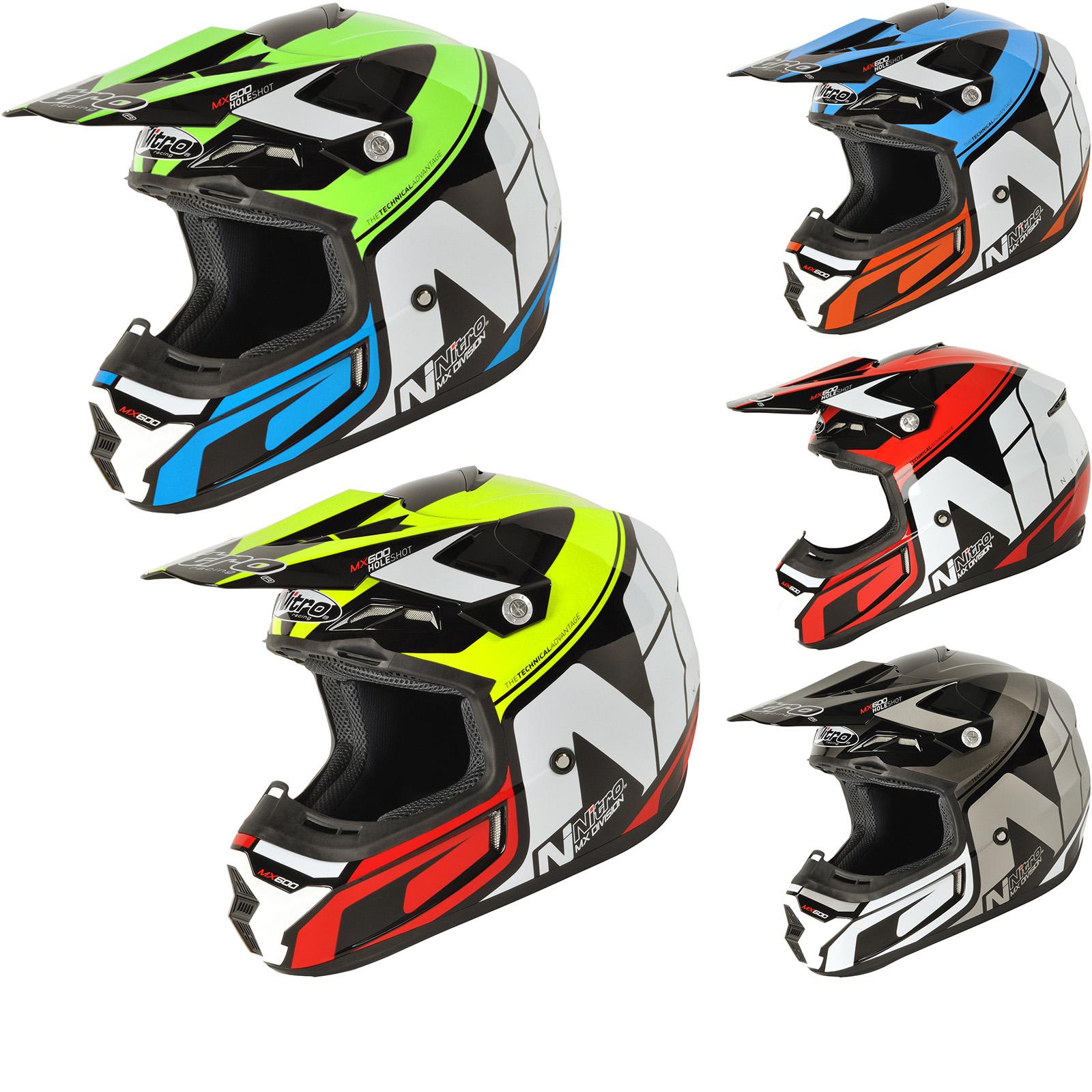 Nitro mx600 holeshot motocross helmet new arrivals ghostbikes com