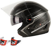 Nitro X600 Tetra Open Face Motorcycle Helmet & Visor