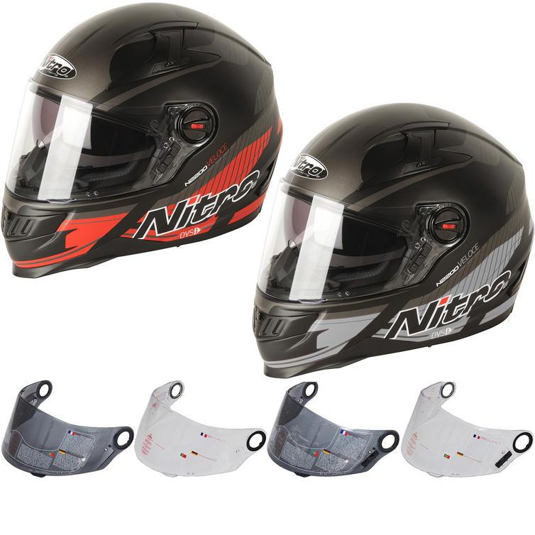 Nitro N2200 Veloce DVS Motorcycle Helmet & Visor