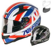 Nitro N2200 Sterling DVS Motorcycle Helmet & Visor