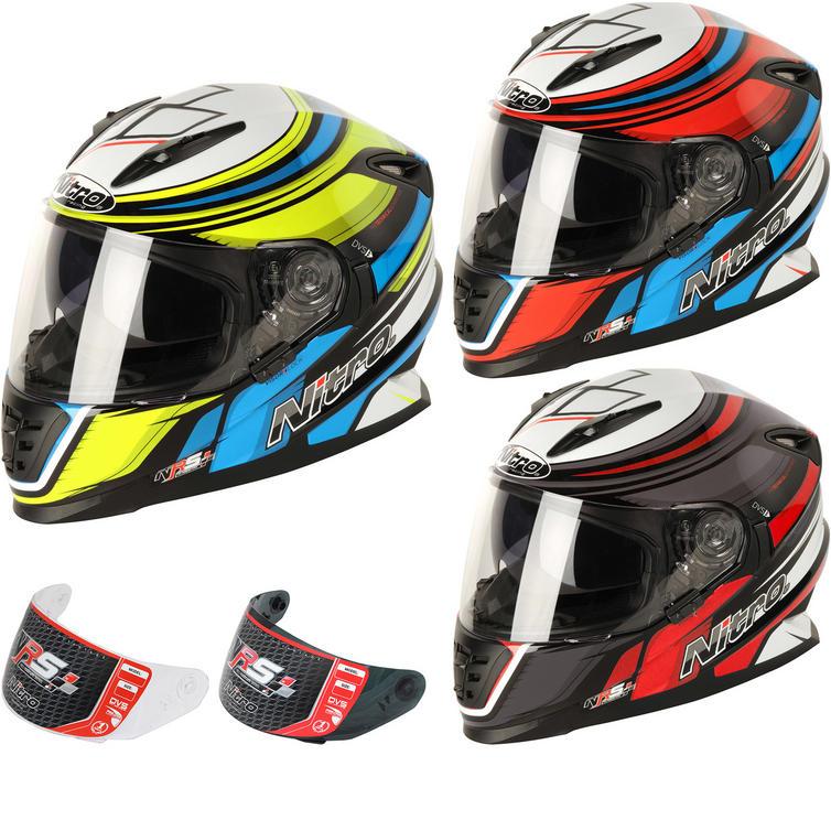 Nitro NRS-01 Torque DVS Motorcycle Helmet & Visor