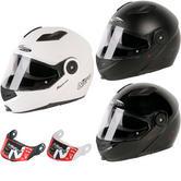 Nitro F345 Uno DVS Flip Front Motorcycle Helmet & Visor