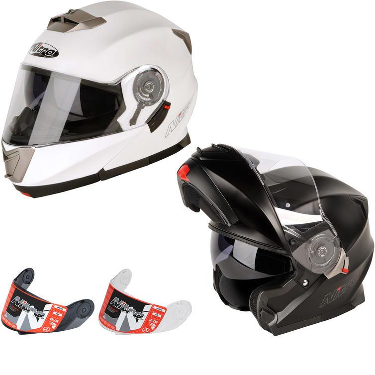 Nitro F343 Elite DVS Flip Front Motorcycle Helmet & Visor