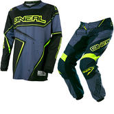 Oneal Element 2017 Racewear Motocross Jersey & Pants Black Gray Hi-Vis Kit