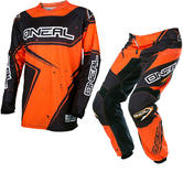 Oneal Element 2017 Racewear Motocross Jersey & Pants Black Orange Kit