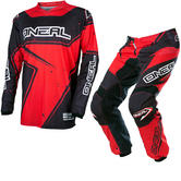Oneal Element 2017 Racewear Motocross Jersey & Pants Black Red Kit