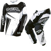 Oneal Element 2017 Racewear Motocross Jersey & Pants Black White Kit