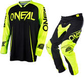 Oneal Mayhem Lite 2017 Blocker Motocross Jersey & Pants Black Hi-Vis Kit