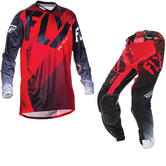 Fly Racing 2017 Lite Hydrogen Motocross Jersey & Pants Red Black White Kit