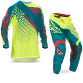 Fly Racing 2017 Kinetic Mesh Trifecta Motocross Jersey & Pants Hi-Viz Teal Kit