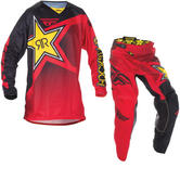 Fly Racing 2017 Kinetic Rockstar Motocross Jersey & Pants Red Black Kit