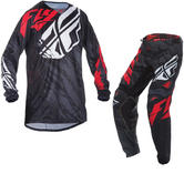 Fly Racing 2017 Kinetic Relapse Motocross Jersey & Pants Black Red White Kit