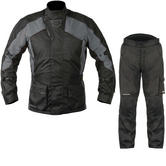 Akito Python Sport Motorcycle Jacket & FREE Trousers Black Gun Black Kit