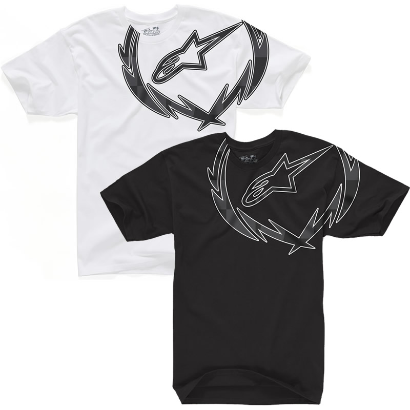ALPINESTARS 2012 GENUINE METAL WREATH CREW NECK TEE COTTON CLOTHING T-SHIRT Enlarged Preview