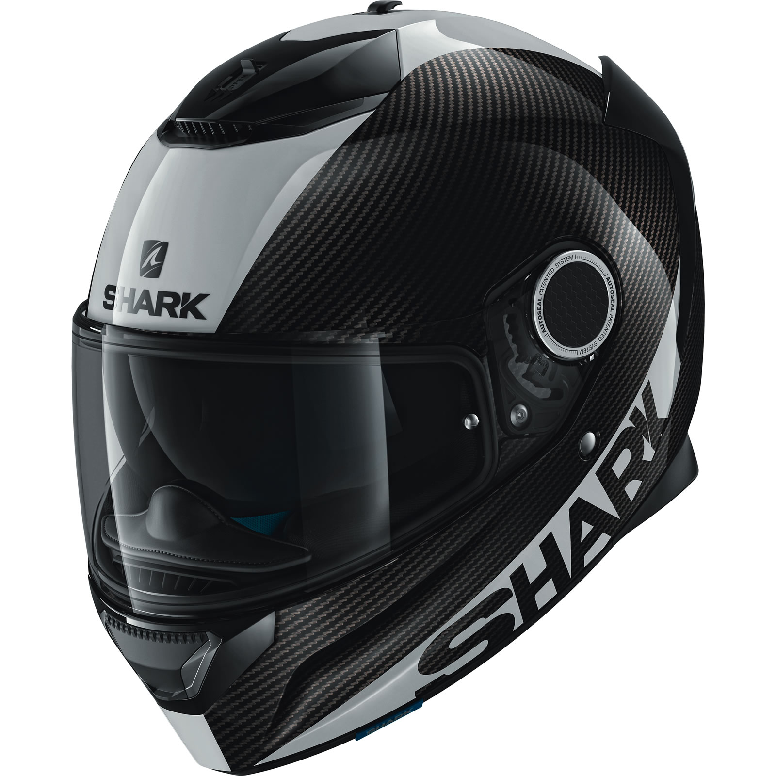 shark spartan carbon skin motorcycle helmet full face pinlock maxvision visor ebay. Black Bedroom Furniture Sets. Home Design Ideas