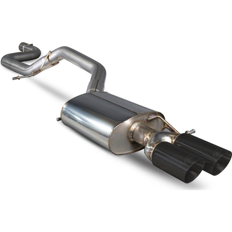 Image of Scorpion Exhaust Cat-Back System Twin Daytona BLK - Volkswagen CC 2.0 TSi 12+