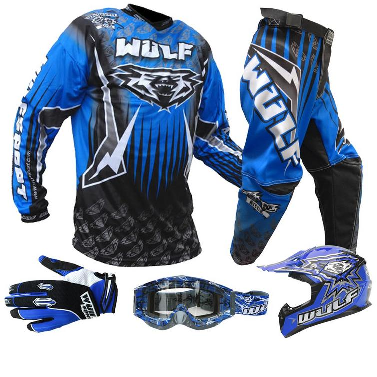 Wulf Cub Junior Motocross Bundle Kit Blue