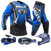 Wulf Cub Junior Motocross Bundle Kit Blue