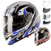 G-Mac Renegade Graphic Motorcycle Helmet & Visor