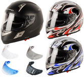 G-Mac Renegade Motorcycle Helmet & Visor
