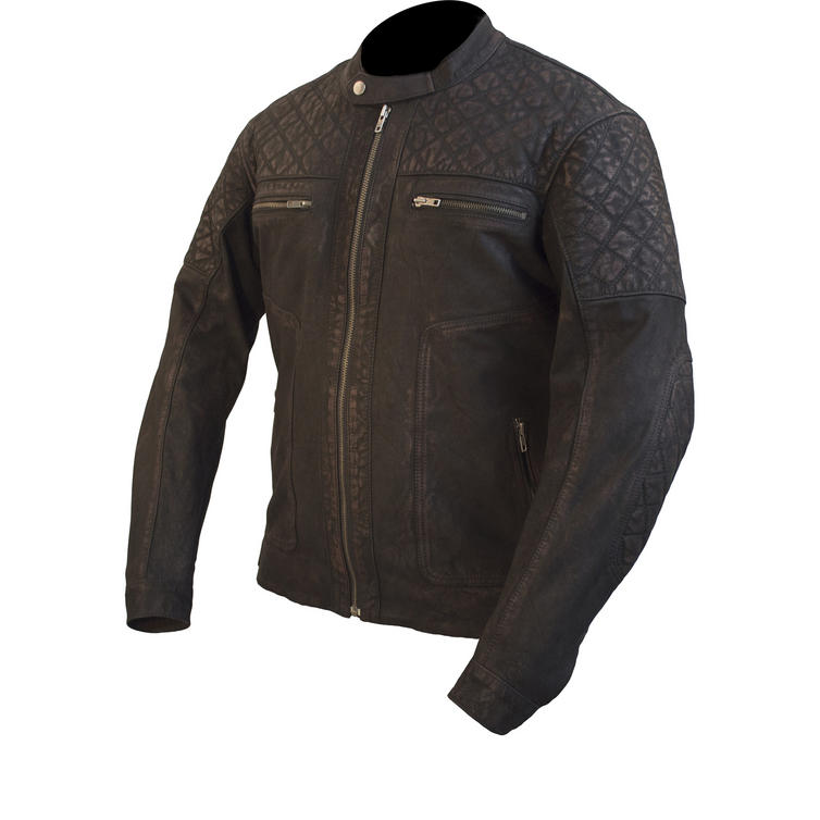 ARMR Moto Retoro Classic Leather Motorcycle Jacket