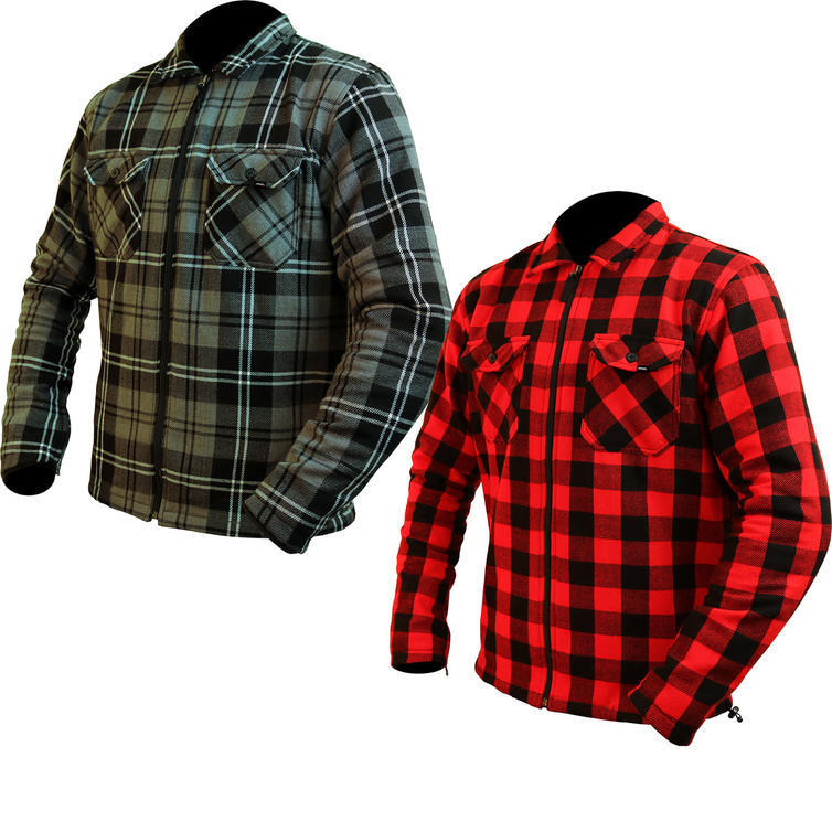 ARMR Moto Aramid Check Motorcycle Shirt