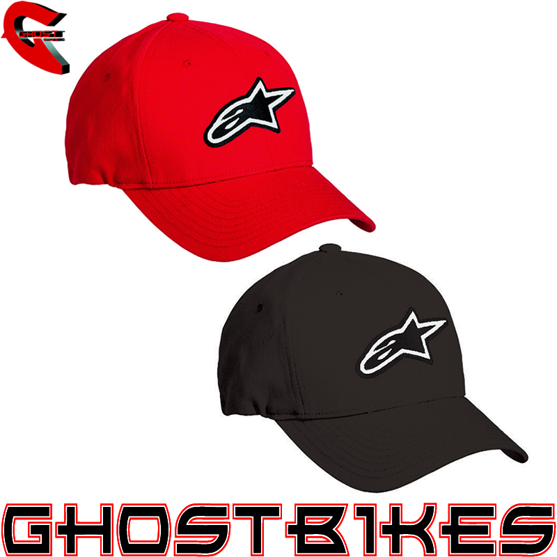 ALPINESTARS 2012 GENUINE ASTAR BRANDED FLEX FIT ELASTIC CAP SPORTS BASEBALL HAT Enlarged Preview