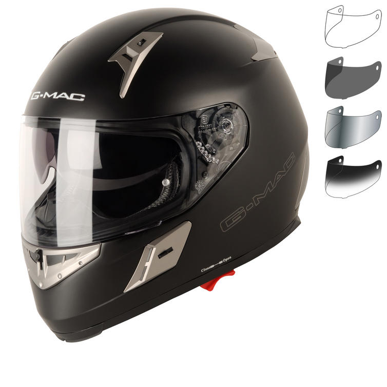G-Mac Renegade Plain Motorcycle Helmet & Visor