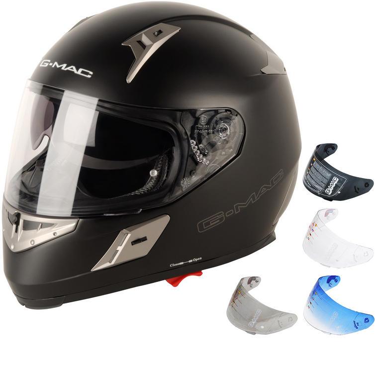 G-Mac Renegade Plain Motorcycle Helmet & Visor