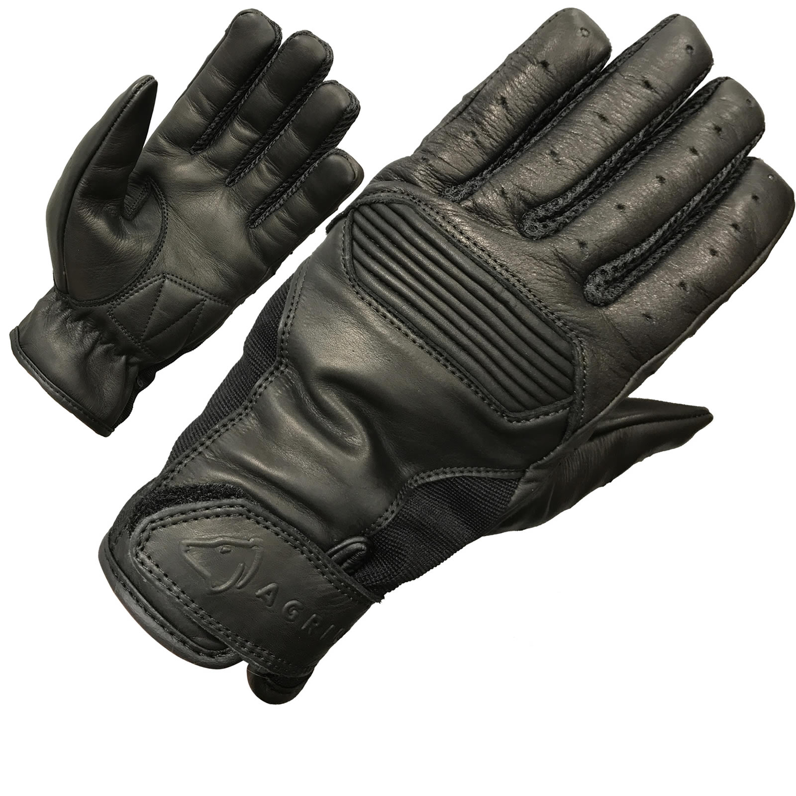 Motorcycle gloves cruiser - Agrius Cool Summer Evo Leather Motorcycle Gloves