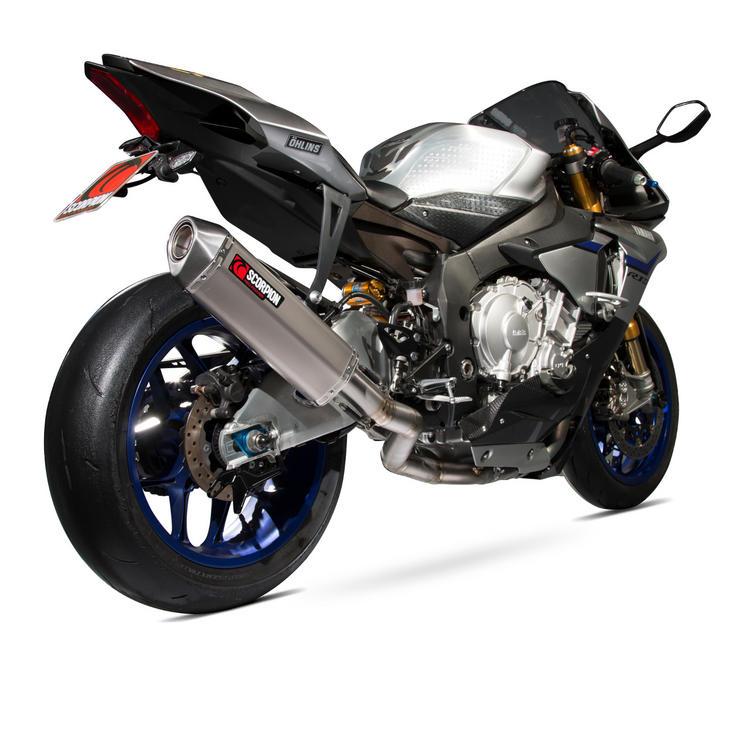 Scorpion Serket Super Stock De-Cat Titanium Oval Exhaust - Yamaha YZF R1 & R1M 15+