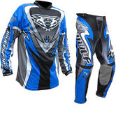Wulf Attack Adult Motocross Jersey & Pants Blue Kit