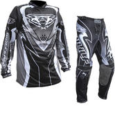 Wulf Attack Adult Motocross Jersey & Pants Black Kit