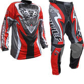 Wulf Attack Adult Motocross Jersey & Pants Red Kit