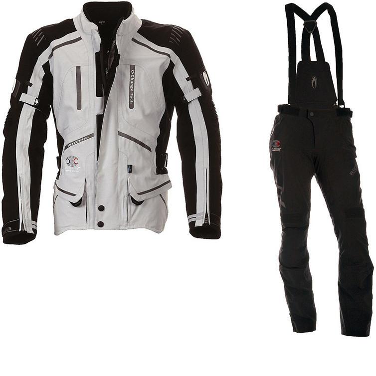Richa Touring C-Change Motorcycle Jacket & Trousers Grey Black Kit