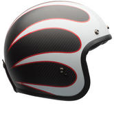 Bell Custom 500 Carbon Ace Cafe Ton Up Open Face Motorcycle Helmet