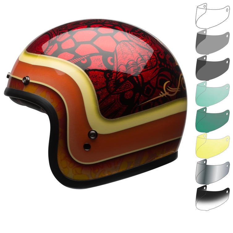 Bell Custom 500 SE Hart Luck Open Face Motorcycle Helmet & Visor