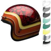Bell Custom 500 SE Hart Luck Open Face Motorcycle Helmet & Visor