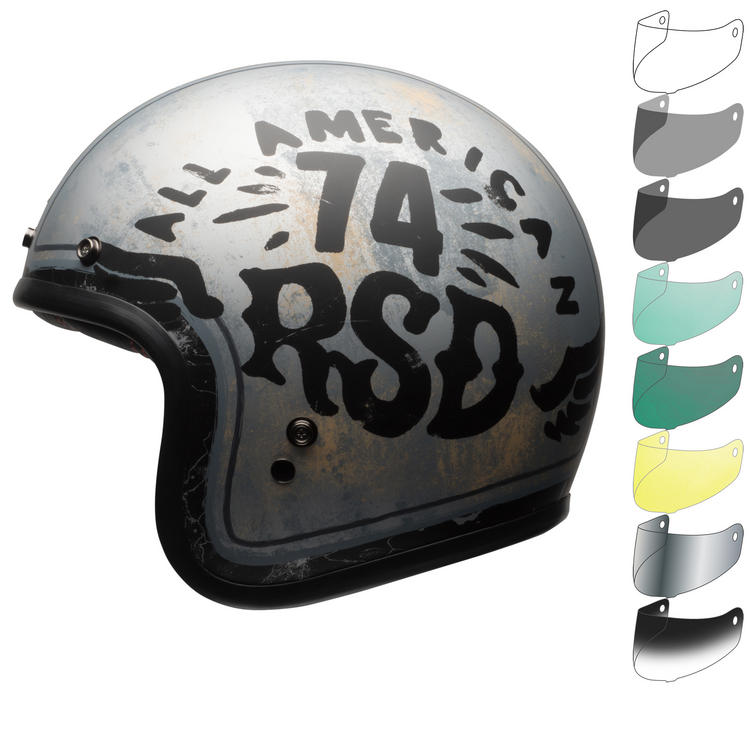 Bell Custom 500 SE RSD 74 Open Face Motorcycle Helmet & Visor