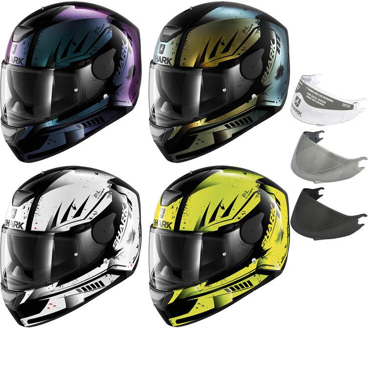 Shark D-Skwal Dharkov Motorcycle Helmet & Visor