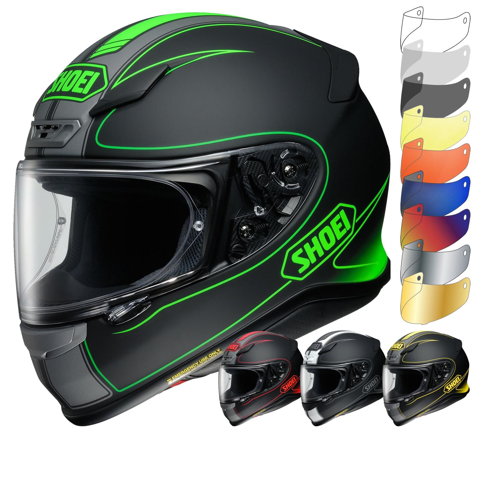 shoei nxr flagger full face motorcycle motorbike helmet. Black Bedroom Furniture Sets. Home Design Ideas