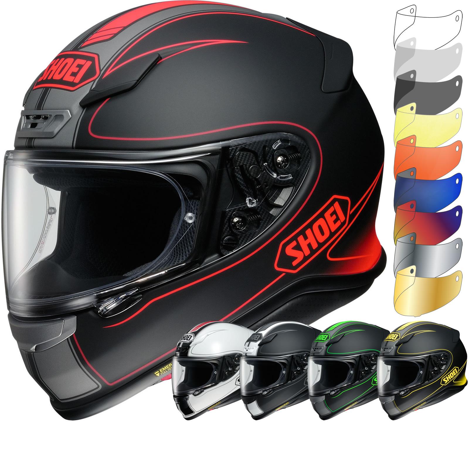 shoei nxr flagger motorcycle helmet visor full face. Black Bedroom Furniture Sets. Home Design Ideas