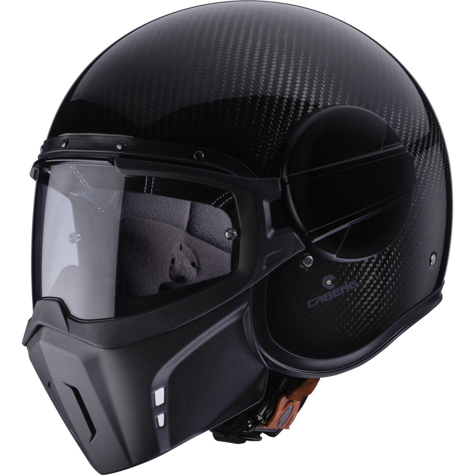 Caberg Ghost Carbon Open Face Motorcycle Helmet Aggressive Face ...