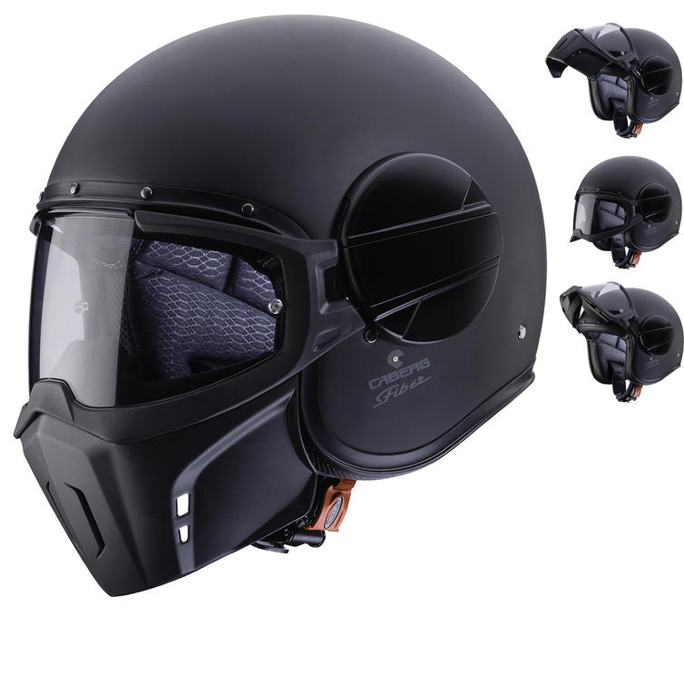 Caberg Ghost Matt Black Open Face Motorcycle Helmet